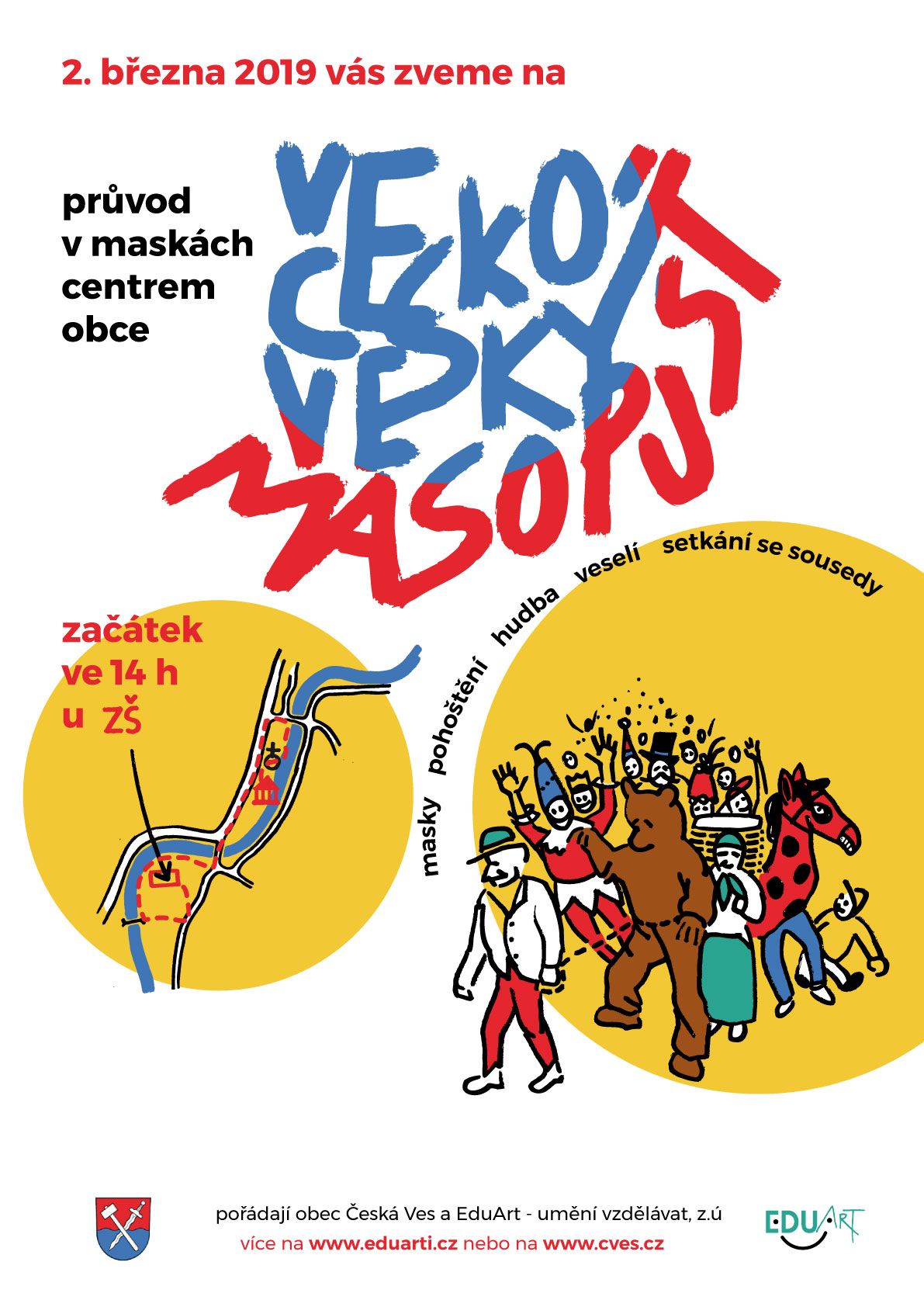 Zveme vás na Českoveský Masopust!
